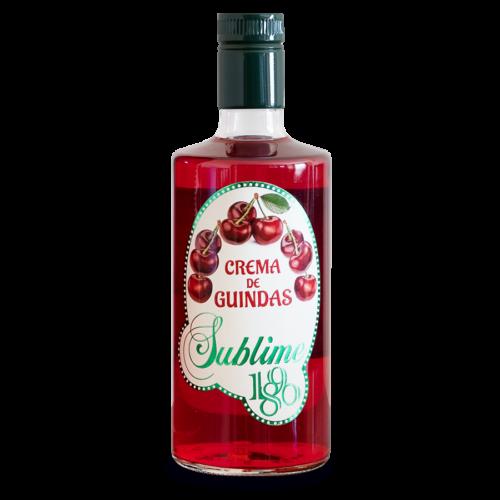 Botella de 70 cl de Crema de guindas 1890 Sublime